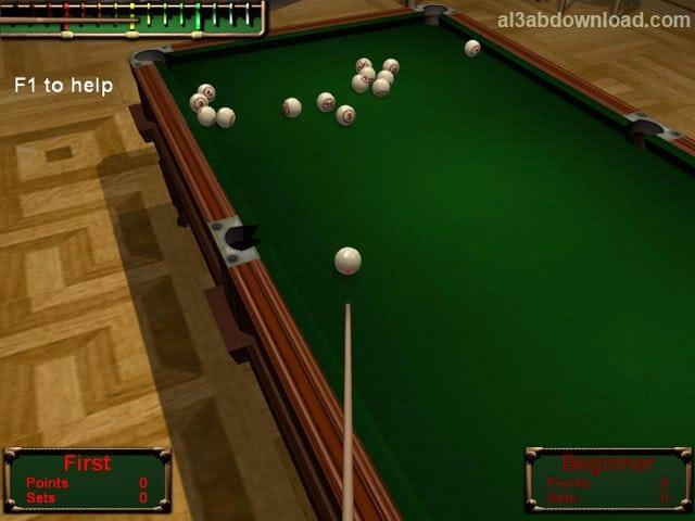 تحميل العاب البلياردو للكمبيوتر مجانا Download Billiards Club