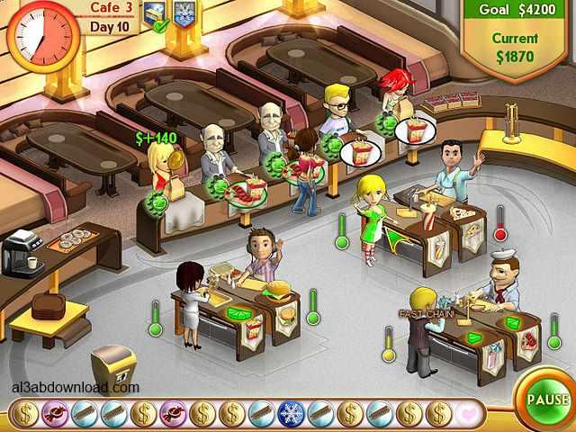 تحميل العاب طبخ بنات للكمبيوتر والموبايل برابط واحد Amelie's Cafe