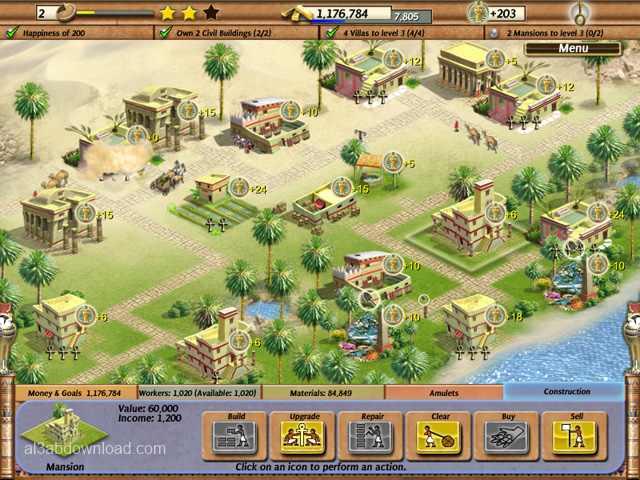 تحميل لعبة بناء الاهرامات Empire Builder Ancient Egypt - العاب استراتيجية