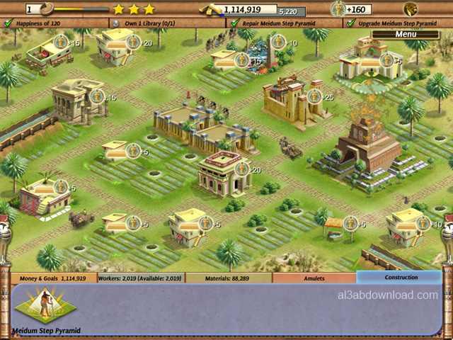 تحميل لعبة بناء الاهرامات Empire Builder Ancient Egypt مجانا