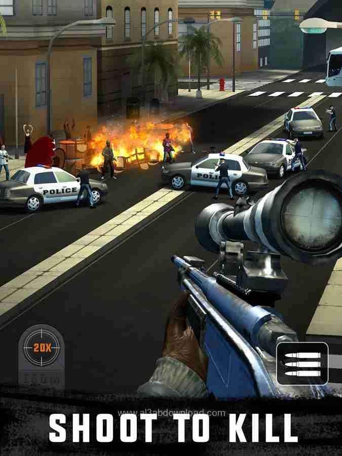 تحميل لعبة القاتل المحترف Sniper 3D Assassin للكمبيوتر والموبايل