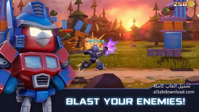 تحميل لعبة انجري بيرد ترانسفورمرز للاندرويد مجانا Angry Birds Transformers