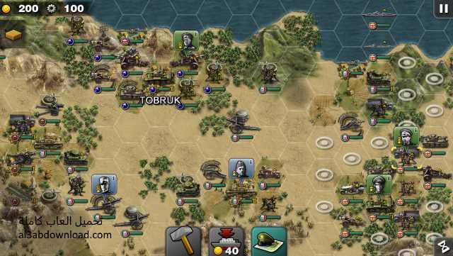 تحميل العاب حرب استراتيجية للاندرويد جنرال المجد Glory of Generals