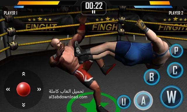 تحميل لعبة المصارعة كاملة للاندرويد مجانا Download Real Wrestling 3D