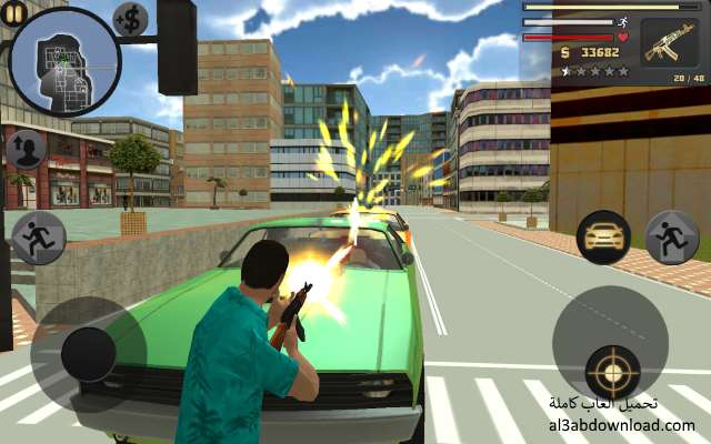 تحميل لعبة جاتا جراند فيغاس حرامي السيارات للاندرويد Vegas Crime