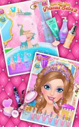 تحميل لعبة صالون التجميل لتجميل الفتيات 2 Princess Salon