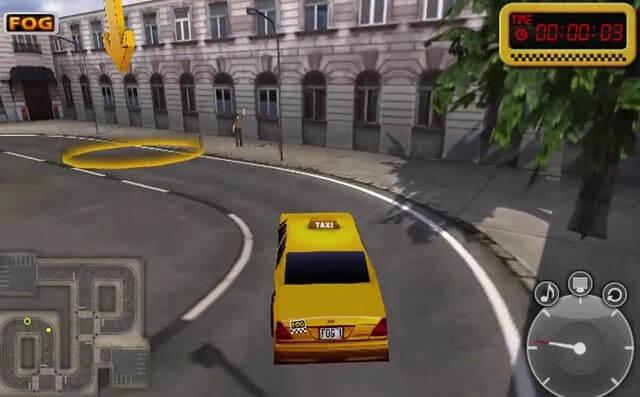تحميل لعبة كريزي تكسي توصيل الناس مجانا Taxi Game