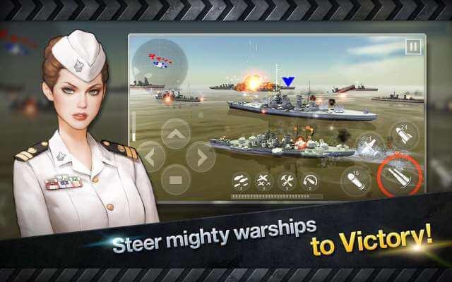 تحميل لعبة حرب السفن والبوارج الحربية WARSHIP BATTLE